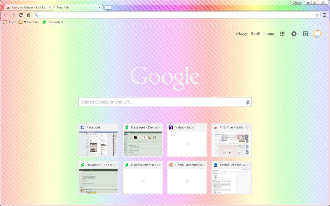 royal rainbow google chrome theme by sleepy stardust on deviantart