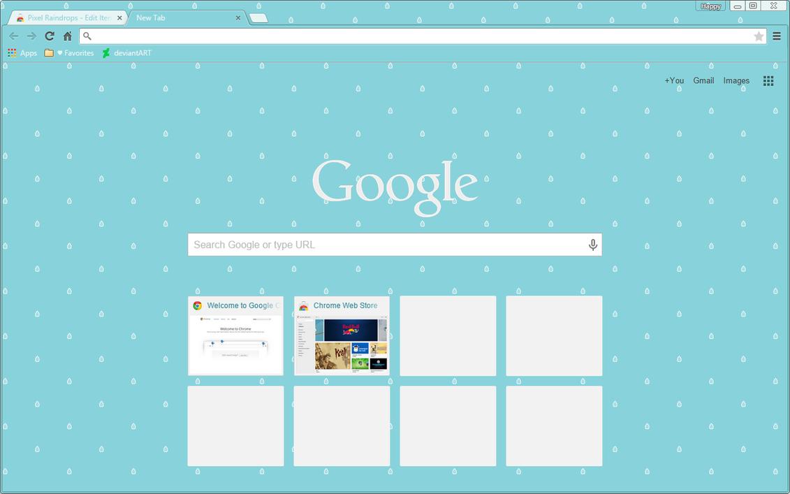 Google chrome themes yaoi - Raindrops Google Chrome Theme By Sleepy Stardust