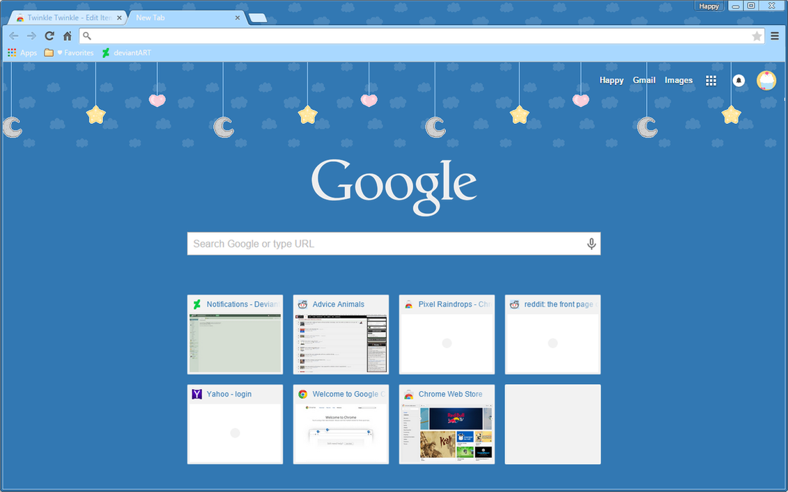 twinkle twinkle google chrome theme by sleepy stardust on deviantart