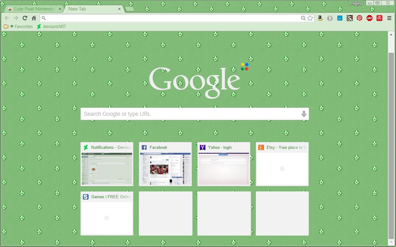 Google themes kawaii -  Mario Yoshi Egg Theme Google Chrome Theme By Sleepy Stardust