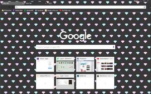 Diamonds Dark Theme - Google Chrome Theme by Sleepy-Stardust