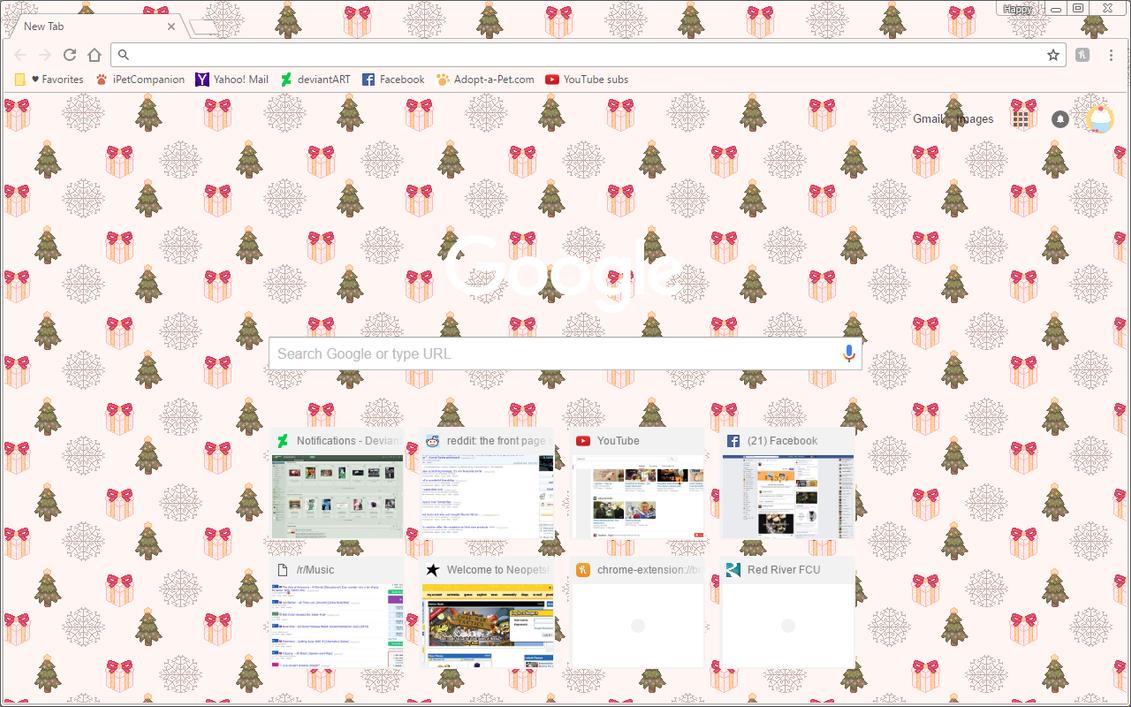 warm christmas google chrome theme by sleepy stardust on deviantart