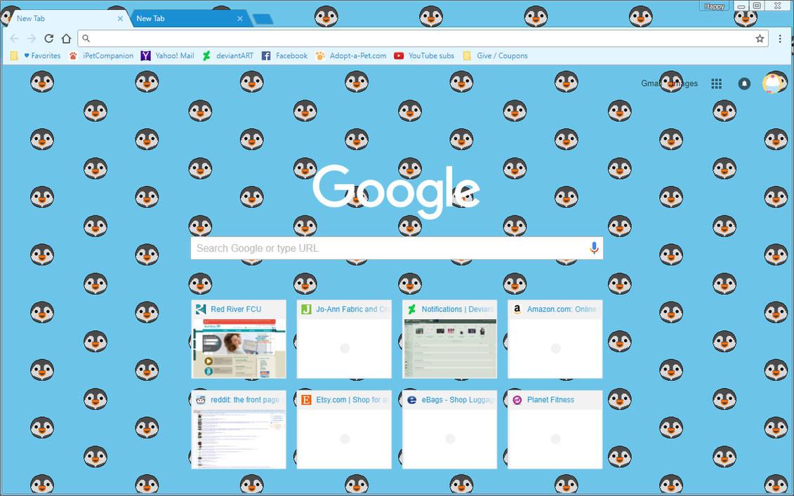 Google Chrome Theme - Penguins by Sleepy-Stardust on DeviantArt