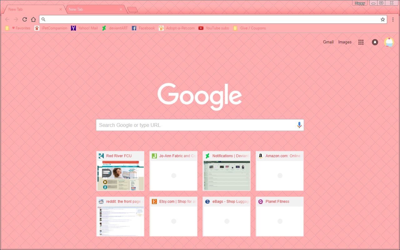 Google Chrome Theme - Pink Bubblegum Lounge by Sleepy
