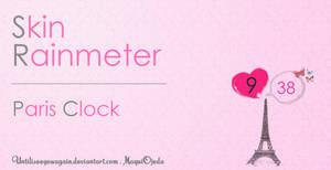 Paris Clock - Skin Rainmeter by untilIseeyouagain