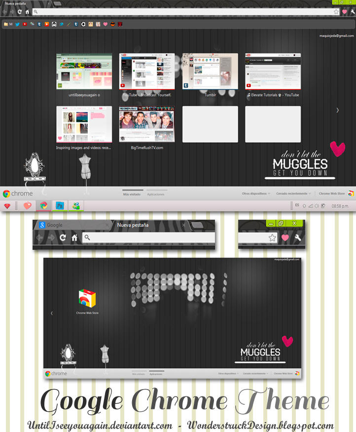 Google Chrome Theme Dark by untilIseeyouagain