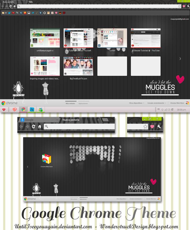 Google Chrome Theme Dark by untilIseeyouagain