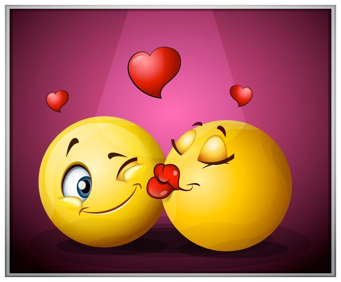 смайлик kissing: