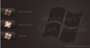 Windows Dark Button win7only by 2befine