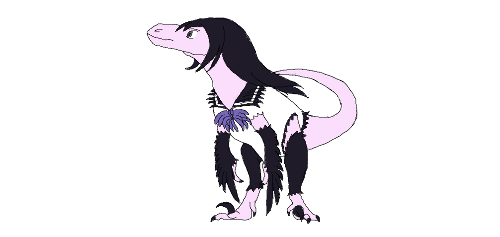 BiD - KnB Kuroha Neko / Kuroneko as a raptor by AGV120395