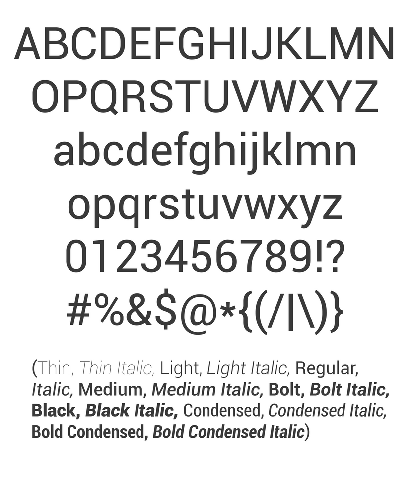 Roboto Is Was a Four-headed Frankenfont – Typographica
