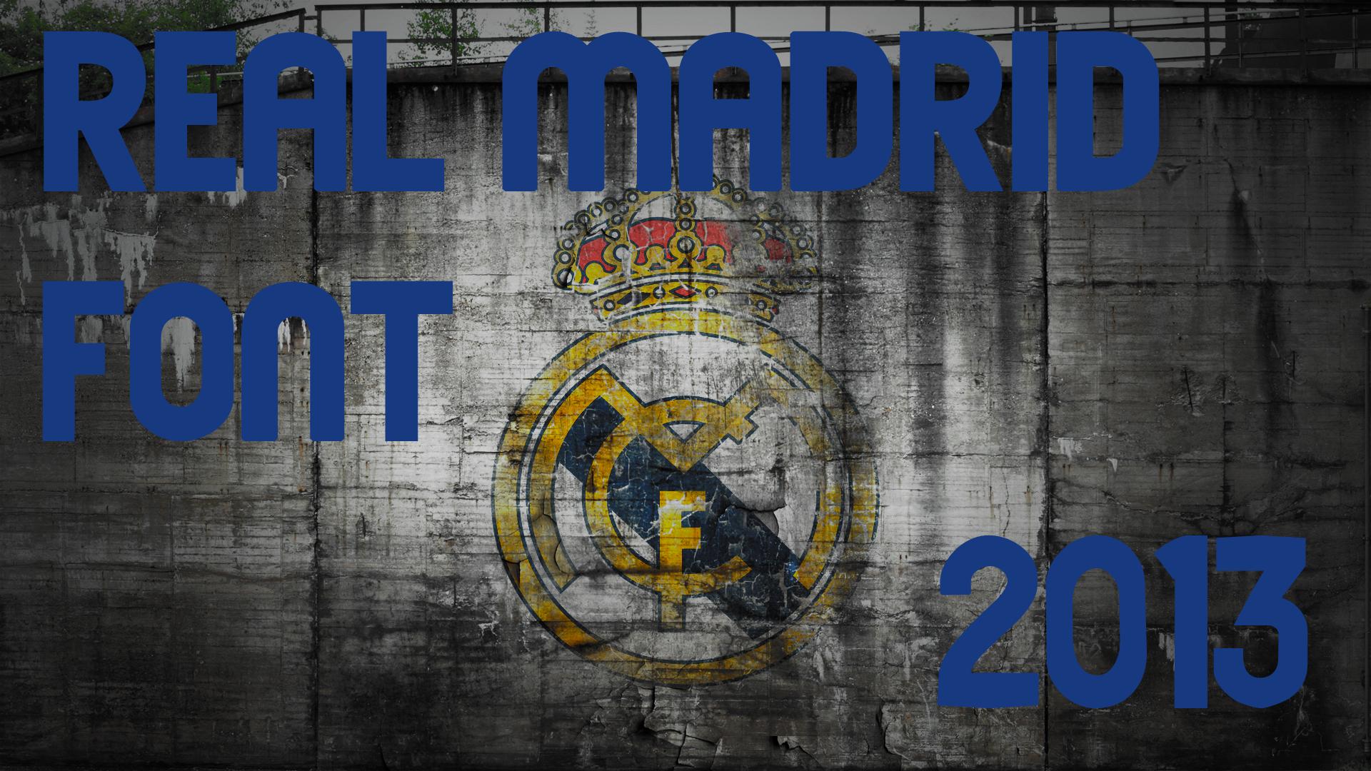 Real Madrid Font [2013]