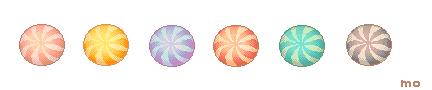 Round and round candy