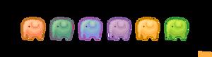 Gummy elephant