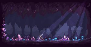 Pixel Art Crystal Cave