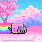 Cherry Blossom Nyan Cat