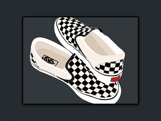 Vans Classic Slip On Shoes In Perforated Black
