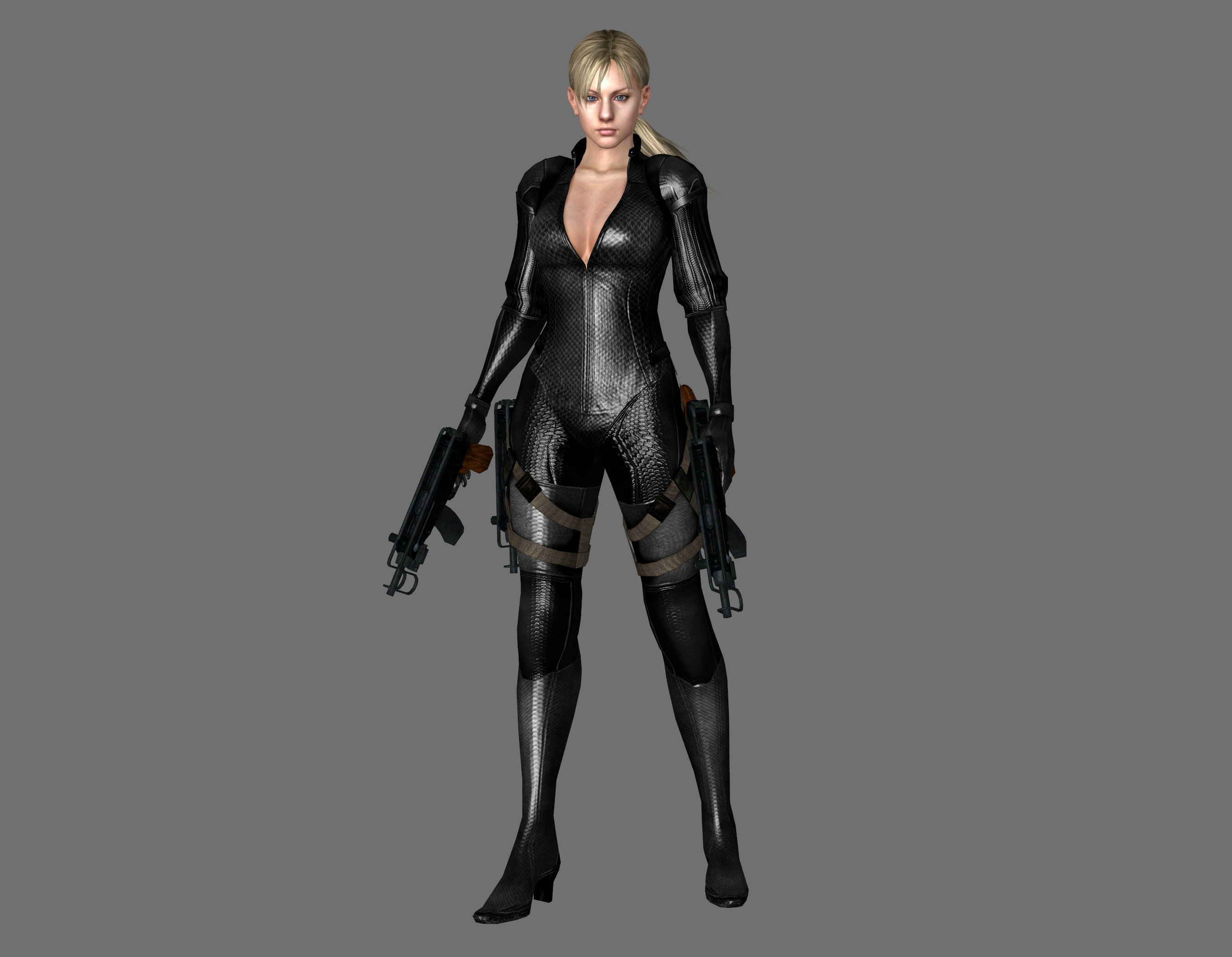 Resident Evil 5 - Jill Battle Suit [Black] by IshikaHiruma