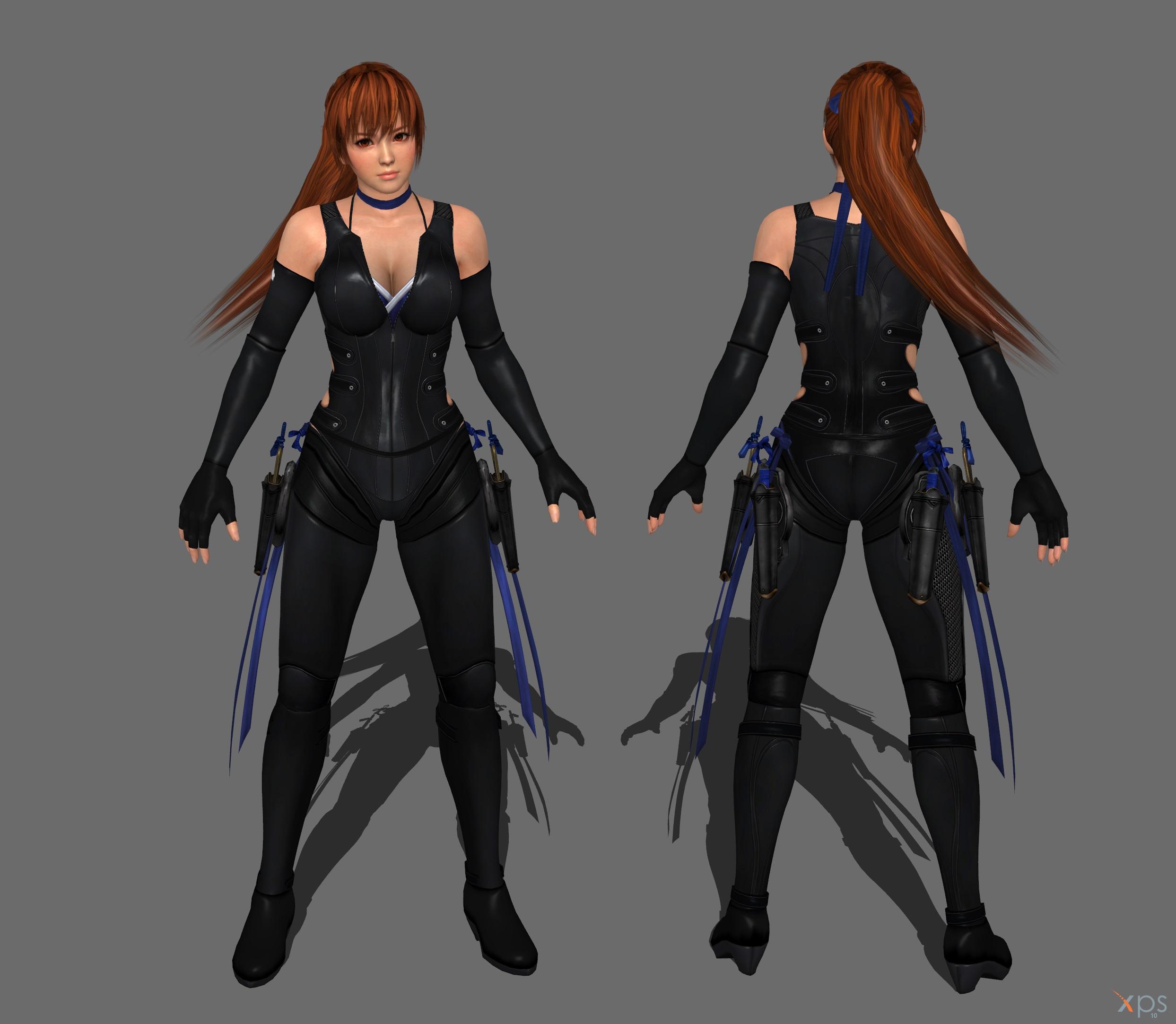 DOA 5 - Kasumi Ninja Outfit [No Gear] by IshikaHiruma