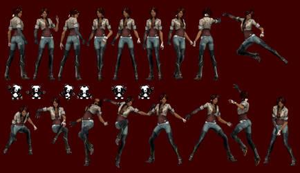 Remember Me - Nilin and Jax Pose Pack by IshikaHiruma