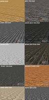 XNALara / XPS Floor Packs by IshikaHiruma