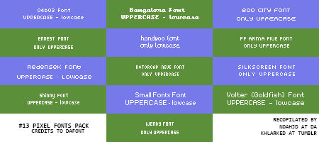 Pixel Fonts pack