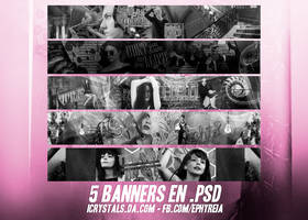 5 banners en .psd by ephyreia