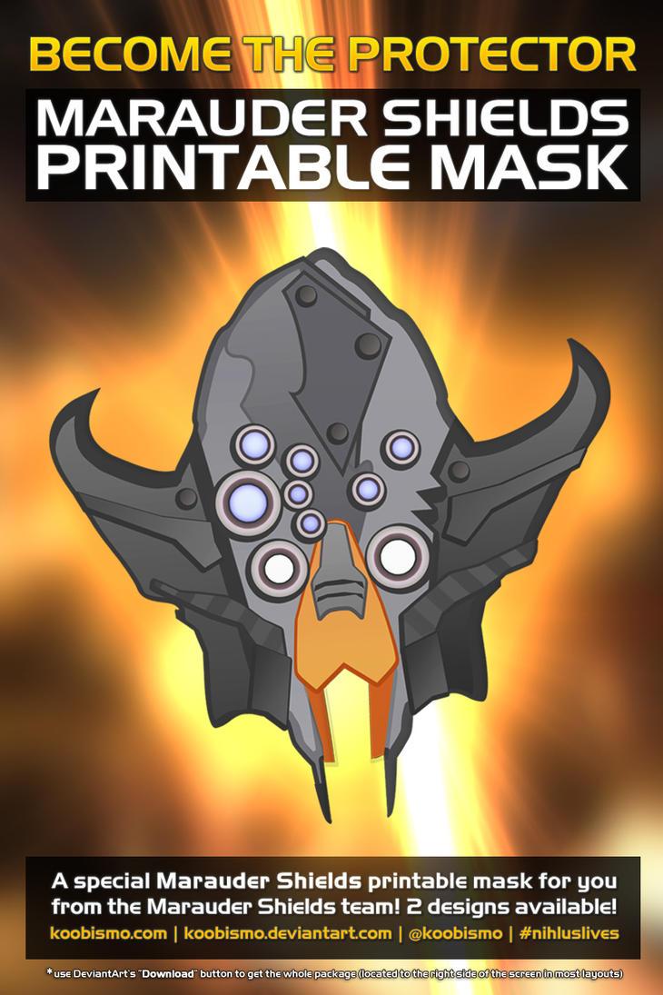 Marauder Shields Printable Mask (Nihlus Lives!) by koobismo