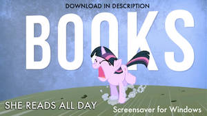 My Little Pony - She Reads All Day Win Screensaver