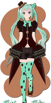 .:150+ Watcher's Gift:. Mint Miku