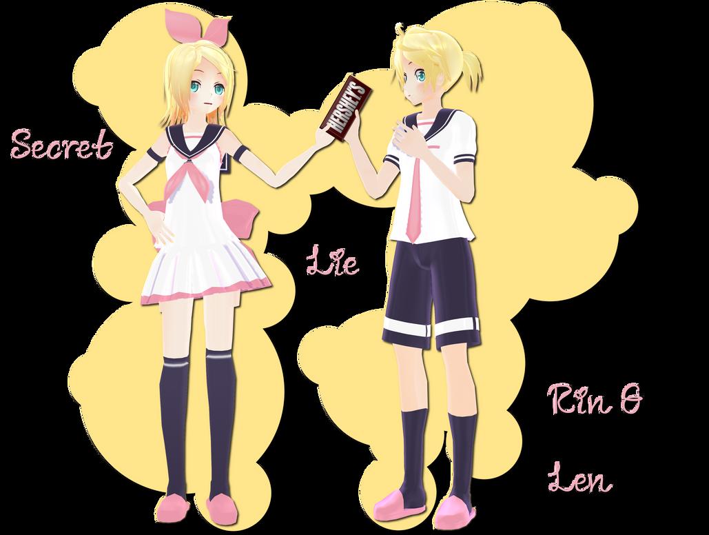 Secret Lie Rin Len DL by xkyarii