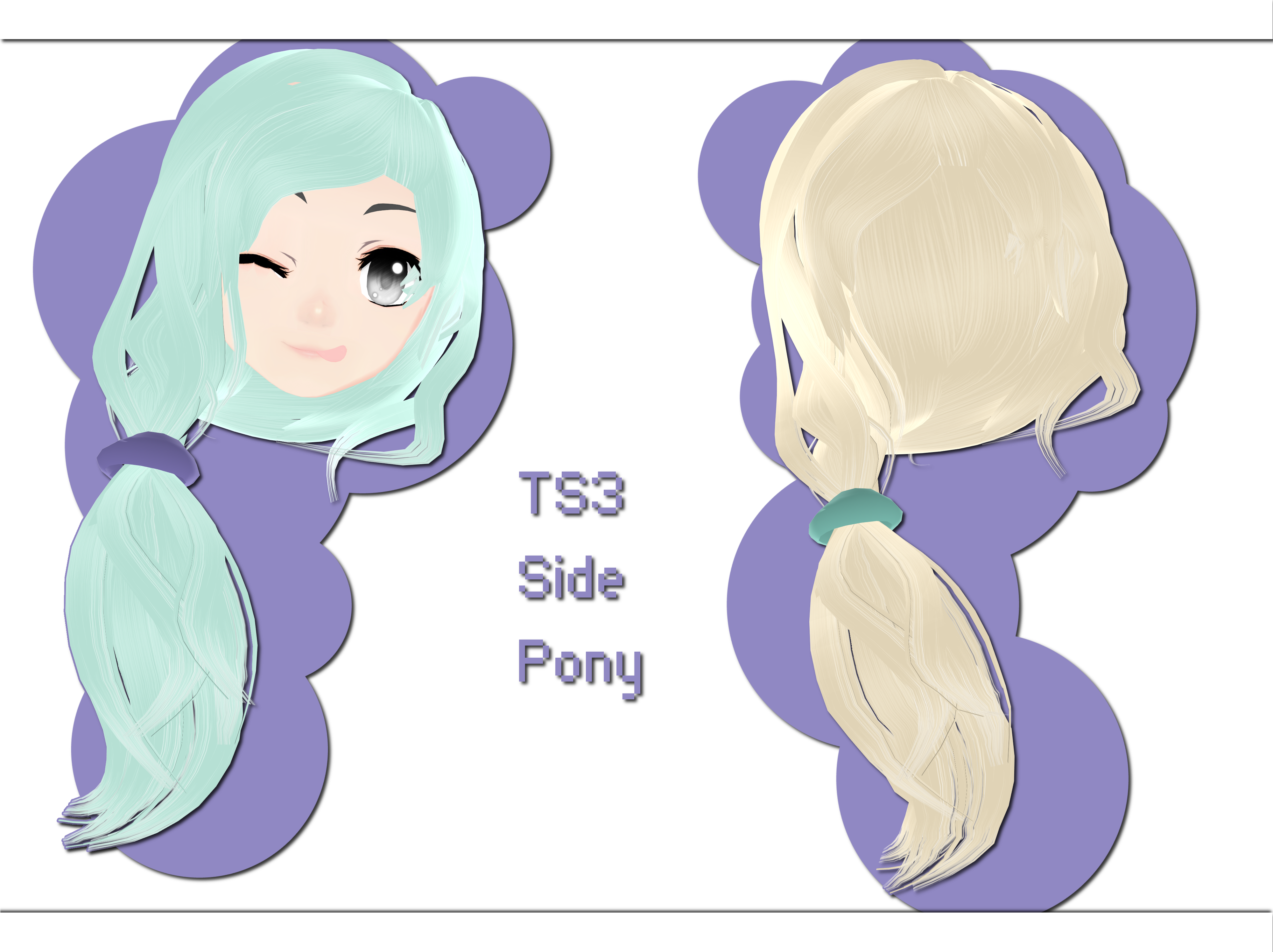 TS3 Side Pony DOWNLOAD by xkyarii