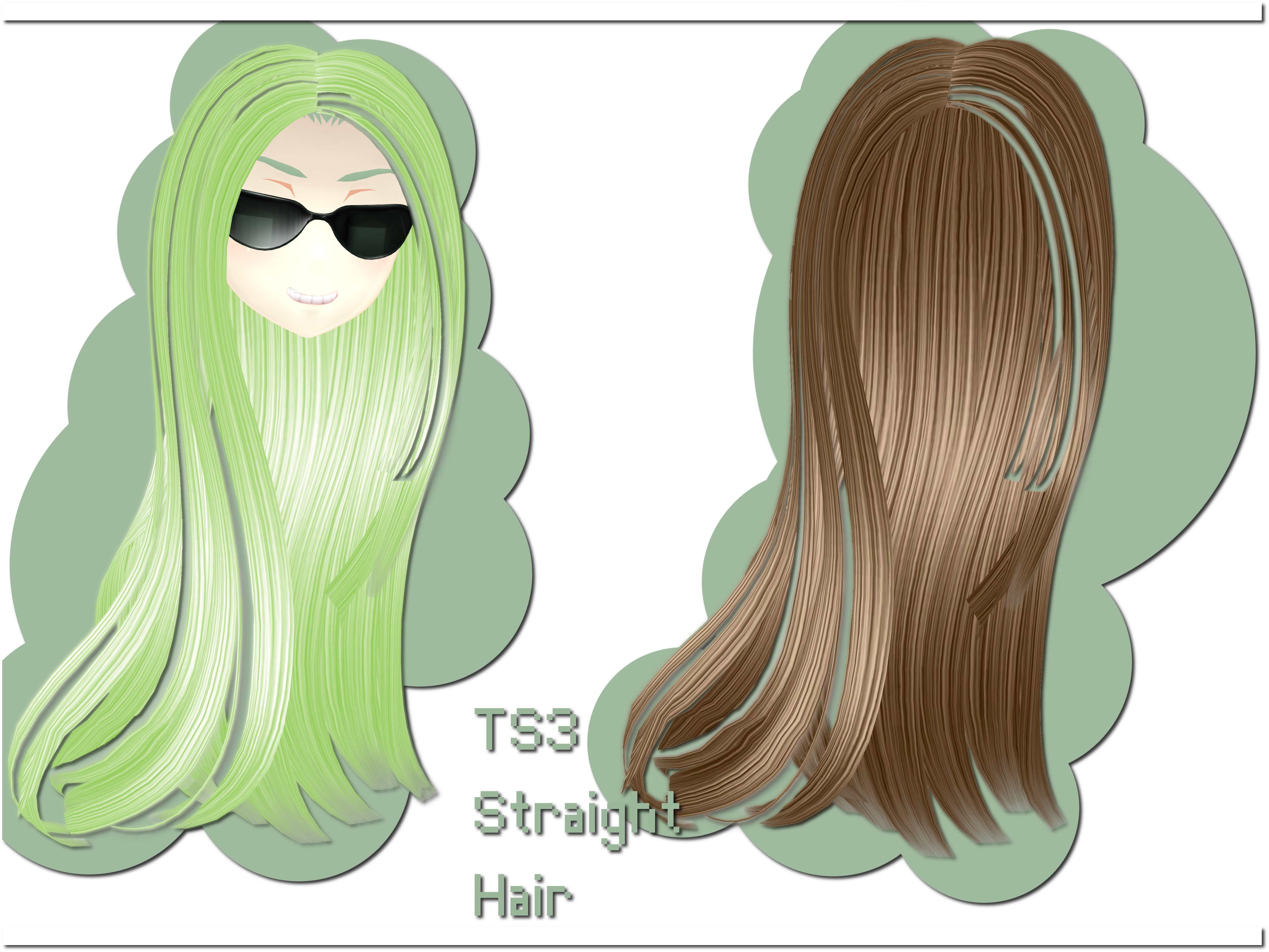 TS3 Straight Hair DOWNLOAD by xkyarii
