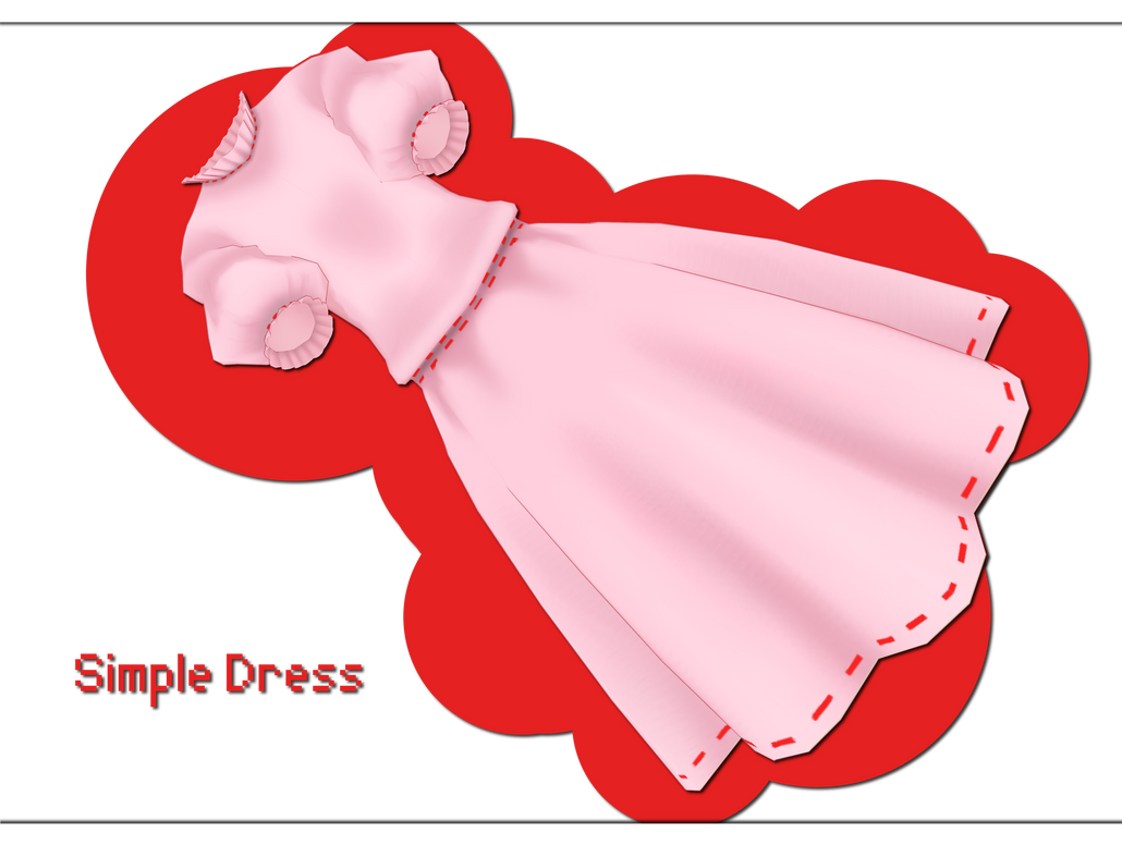 Simple Dress DOWNLOAD by xkyarii