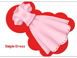 Simple Dress DOWNLOAD by xkyarii