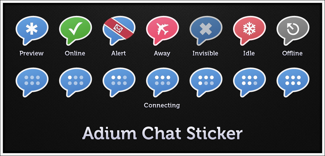 Adium Chat Sticker by pedroL