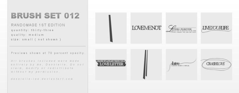 Brush Set 012 by dannielle-lee