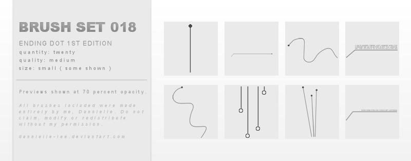 Brush Set 018 by dannielle-lee