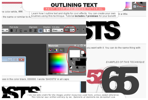 Tutorial 034: Outlining Text by dannielle-lee
