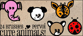Animals brushes by PervoiBrushes