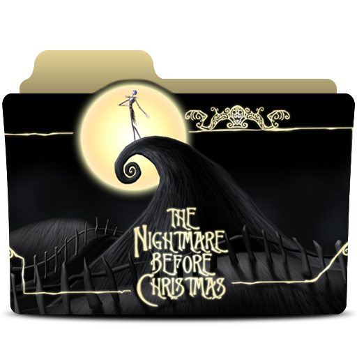 Nightmare Before Christmas Icons.The Nightmare Before Christmas Folder Icon By Bedobaho On