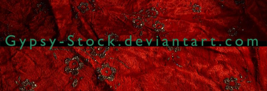 Red Velvet and Glitter Flowers