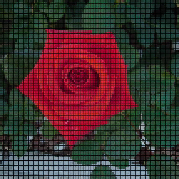 Pixelated Rose By Jtcgh On DeviantArt