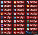 Redlove social media Icon set