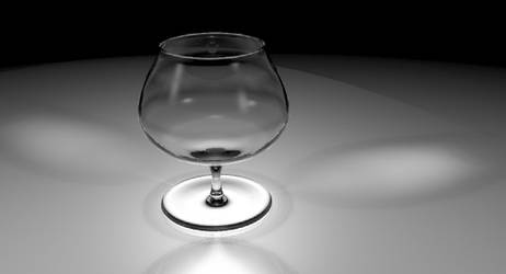 Glass without wine by jaak