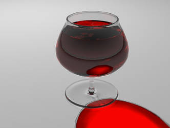 Glass with wine by jaak