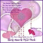 Girly Hearts PSDs
