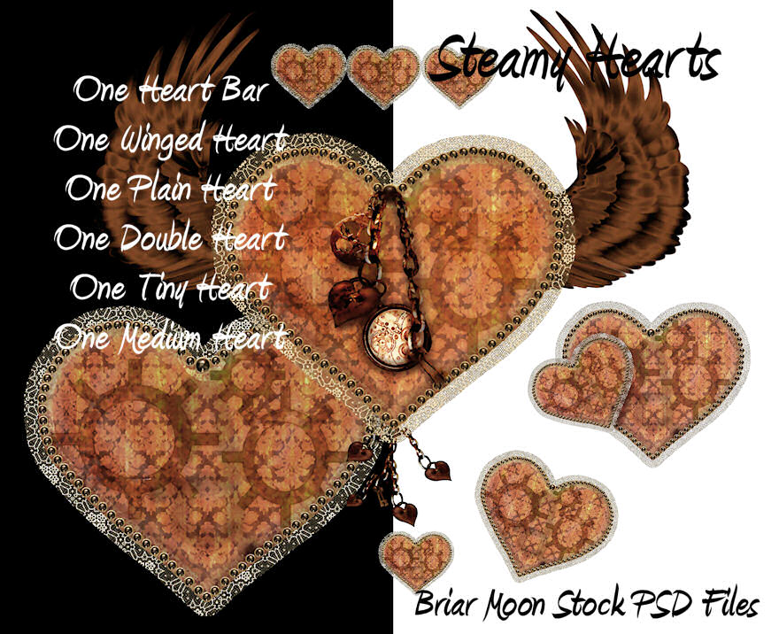 Steamy Hearts PSD