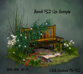 Country Bench PSD by briarmoon-stock
