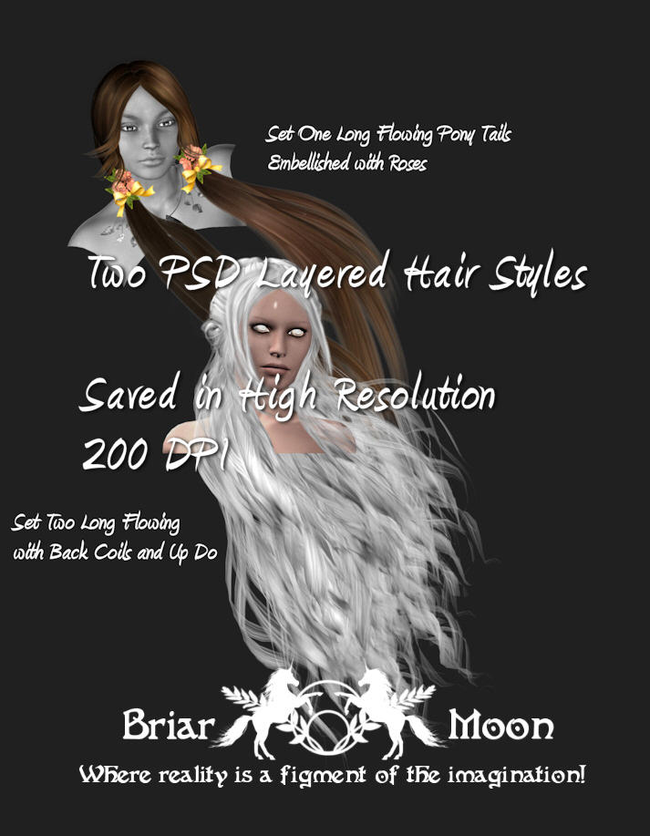 Two PSD Hair Files by briarmoon-stock